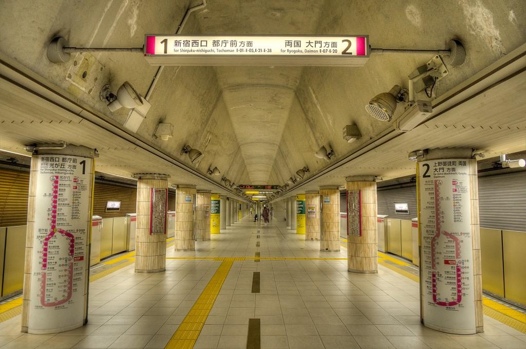 20141124飯田橋駅ホーム中央